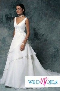 suknia ślubna typu Cosmobella7099 - bez trenu, biła, 38