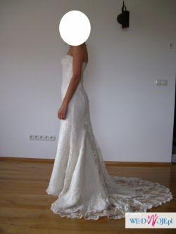 Suknia ślubna typu rybka z koronki