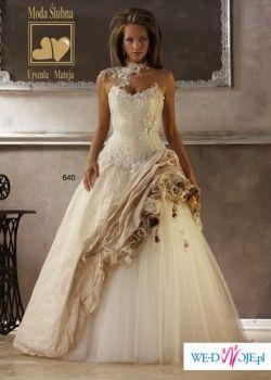 Suknia ślubna Urszuli Mateja model 640 ecru