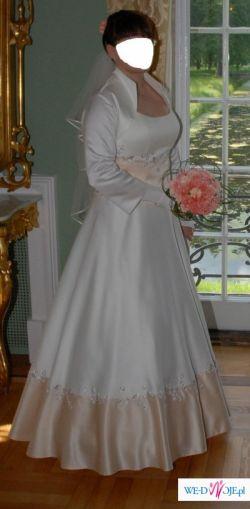 Suknia Ślubna używana 40-42 Ekri
