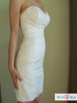 Suknia ślubna VANESSA 34/36; krótka