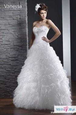 2fde3276a2 Suknia ślubna Vanessa z falbanami - Suknie ślubne - Ogłoszenie ...
