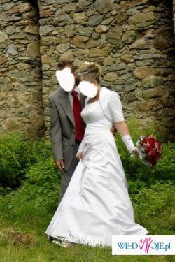 SUKNIA SLUBNA Viktoria+ REKAWICZKI DO KOMPLETU GRATIS !! Noszona tylko na ślubie