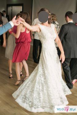 Suknia ślubna Vintage Boho Retro Koronkowa Delikatna Bez