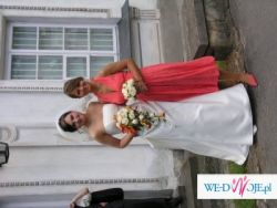 Suknia Slubna w kolorze ecriu