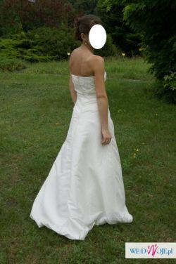 Suknia ślubna, welon i bolerko gratis