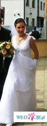 Suknia ślubna+welon+rękawiczki