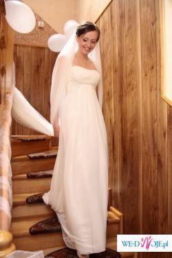 Suknia ślubna WHITE ONE 3018 muślin