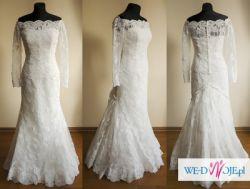 Suknia ślubna White One 424 +bolerko+welon (36/38)