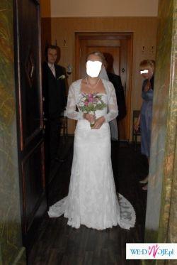 Suknia ślubna White One 427 + bolerko