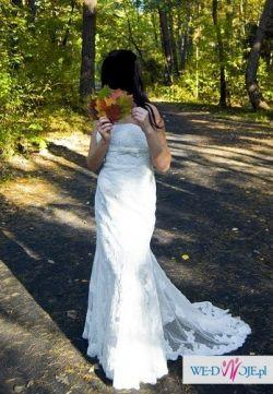Suknia ślubna White One 427 rozm S/36 z bolerkiem
