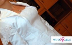 Suknia ślubna wraz z bolerkiem i rękawiczkami
