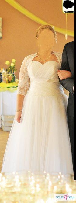 Suknia ślubna, wyjątkowa 2014 wyszczuplająca 44,46,48
