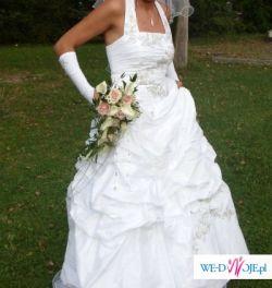 """suknia ślubna wzór """"Agnes"""" rozmiar 38/40"""
