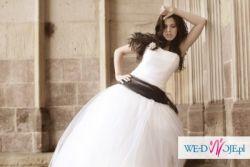 Suknia ślubna z biłaego tiulu 'Snowflake'