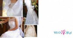 Suknia ślubna z dodatkami, kamizelka, buty