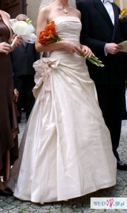 Suknia ślubna z domu mody Urszula Mateja + MATERIAŁ NA PRZERÓBKĘ / SZAL / SUKIEN
