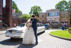 Suknia ślubna z falbanami