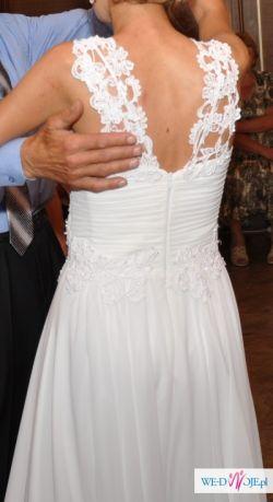 95a411461e Suknia ślubna Z Gipiury I Muślinu Suknie ślubne Ogłoszenie