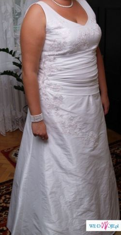 ******Suknia ślubna z gniecionej tafty******