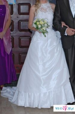 b9ec45c0d3 Suknia ślubna z golfem! R34 36 161cm + 5cm obcas