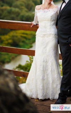 Suknia ślubna z hiszpańskiej koronki