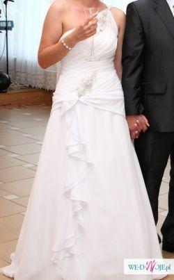 Suknia ślubna z  kamieniami Swarovskiego 38 - 40