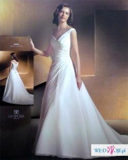 Suknia ślubna z kolekcji LA SPOSA, śnieżna biel