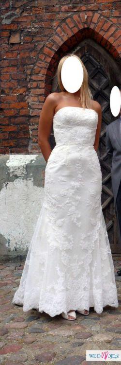 Suknia ślubna z kolekcji Madonna White one 424 rozm. 36/38