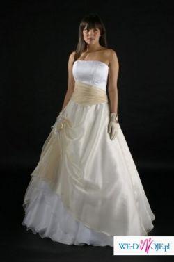 Suknia ślubna z kolekcji Małgorzaty Kurpiel