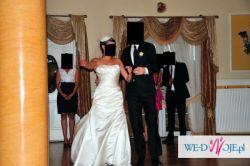 Suknia ślubna z kolekcji San Patrick 2010 model ESFERA + toczek + stroik do włos