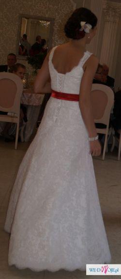Suknia ślubna z koronki, agnes, moonlight collection, model 11275