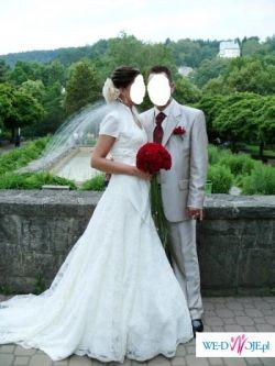 Suknia ślubna z koronki- śliczna