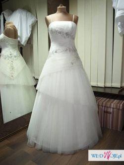 Suknia ślubna z kryształowymi aplikacjami