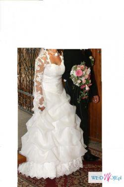 Suknia ślubna z modnym bolerkiem!!