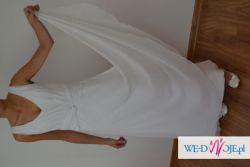Suknia ślubna z muślinu, subtelna i delikatna/Empire