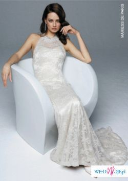 Suknia ślubna z pięknej koronki