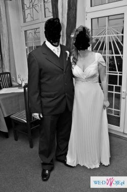Suknia Ślubna z plisem