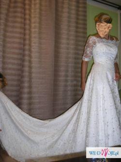 Suknia ślubna z rękawkami – NOWA!!!