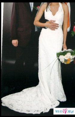 Suknia ślubna z trenem 38 (172)