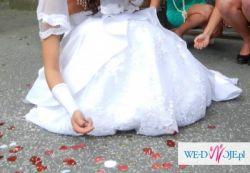 Suknia ślubna z trenem. Cudna!!!