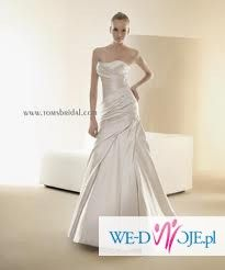 suknia ślubna z trenem la sposa fanal + welon+ bolerko