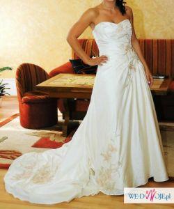 Suknia Ślubna z USA ręcznie chaftowana OKAZJA!!!
