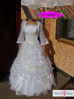 Suknia ślubna ze złotym haftem