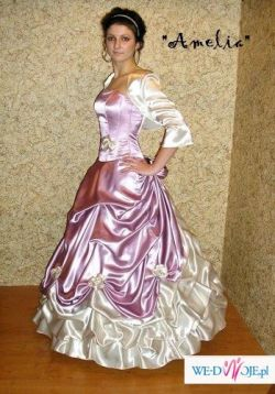 suknia slubnaRose( spodnica, bolerko, halka , gorset)