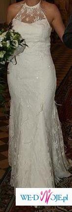 Suknia śluna Agnes 1512, ecru, rozmiar 38, 1100 zł