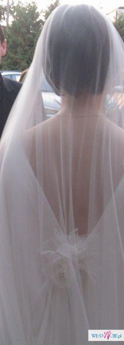 suknia śubna Hiedra - prosta, elegancka, romantyczna