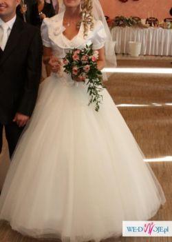 Suknia typu PRINCESSA z kryształkami Swarovskiego