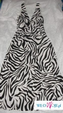 Suknia w zebrę