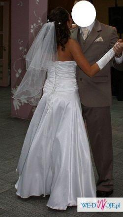 suknia + welon i rękawiczki